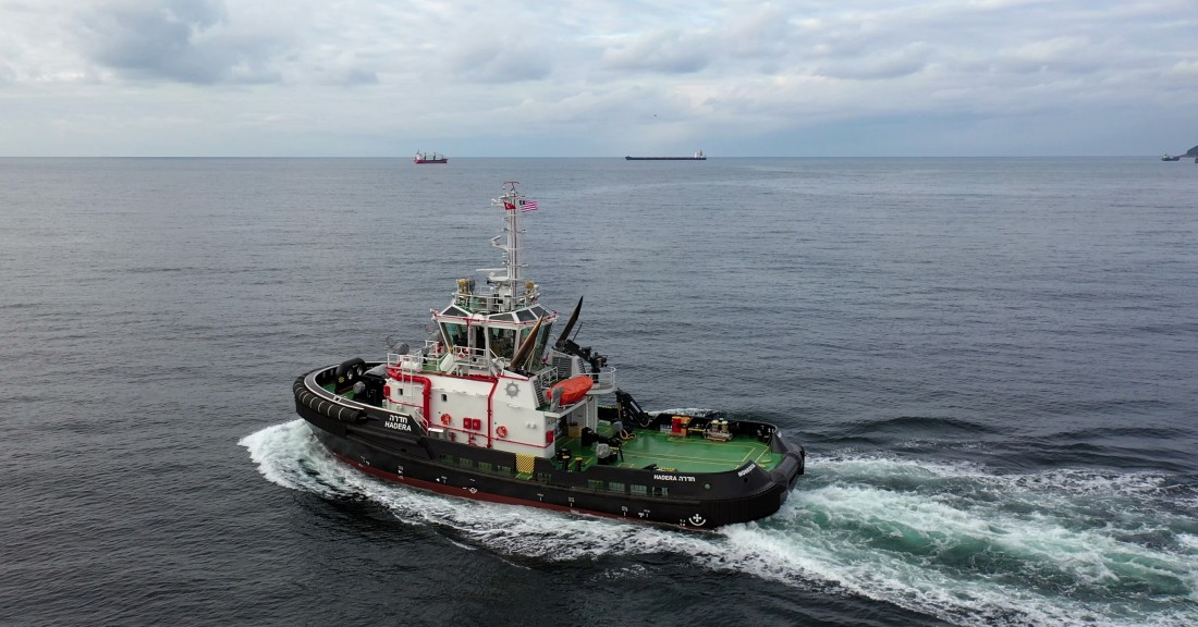 Med Marine's New Series Tug Now Operates In Hadera