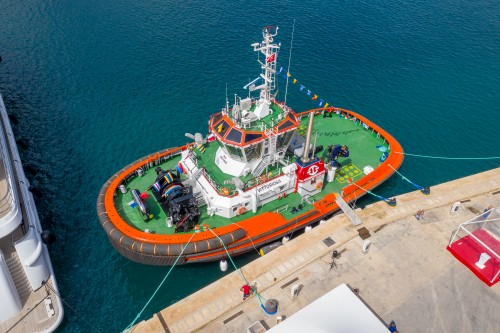 MED-A3080 Tug was Christened in Valletta