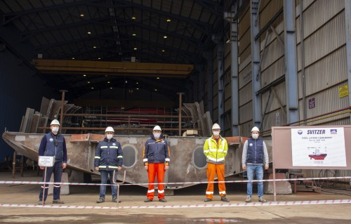 Med Marine Held Keel-Laying Ceremony for Svitzer's Ice Breaking Tugs.